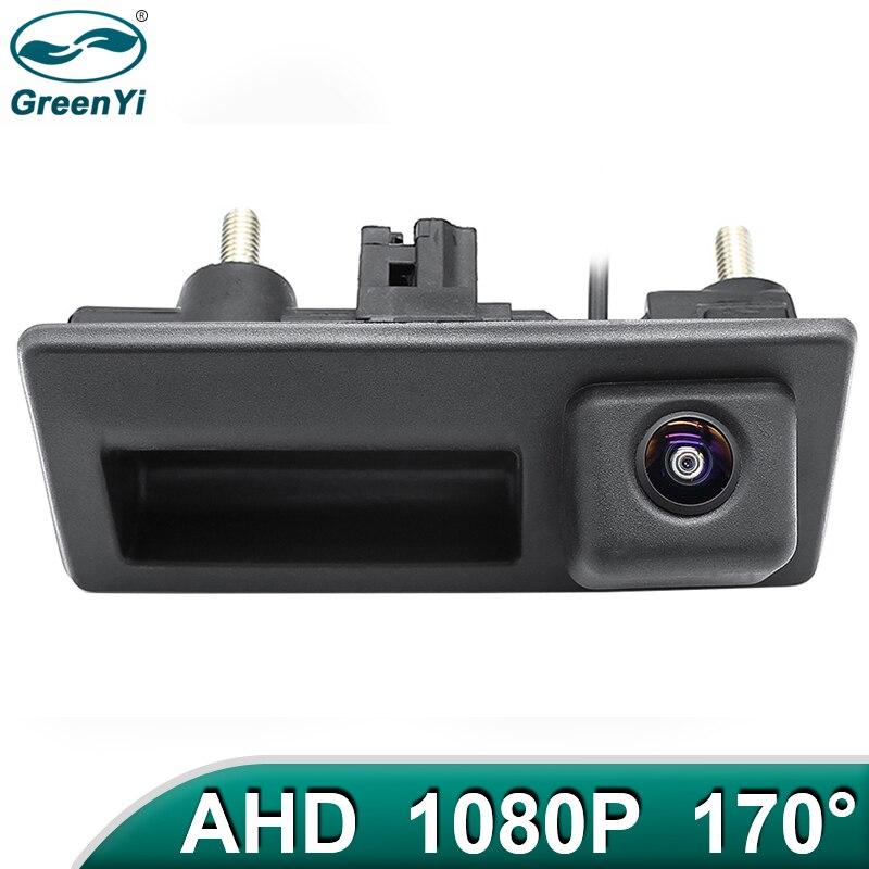 GreenYi 170 ° 1080P HD AHD Автомобильная камера заднего вида для Audi VW Passat Tiguan Golf Jetta Polo Sharan Caddy Car