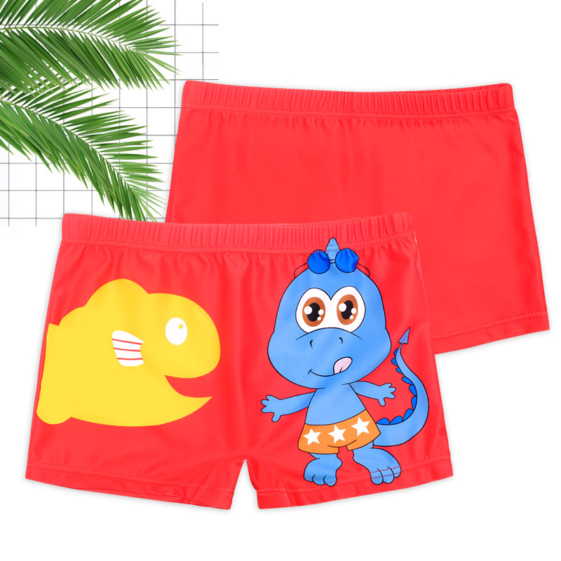 New Style BOY'S Swimming Trunks Cartoon Pattern Comfortable Fabric Big Boy Play With Water Beach Boxer Children Swimming Trunks