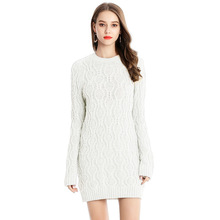 Sexy Mini Sweater Dress Full Sleeve O-Neck Fashion Knitted Women Pullover Thick Tricot Ladies Casual Dress Vestidos Casual Mujer цены
