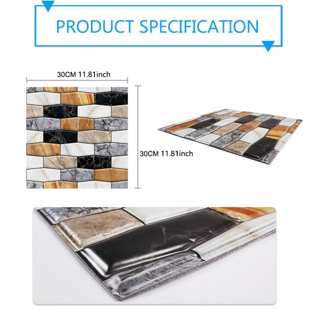 3D Wall Paper Marble Brick Peel 8