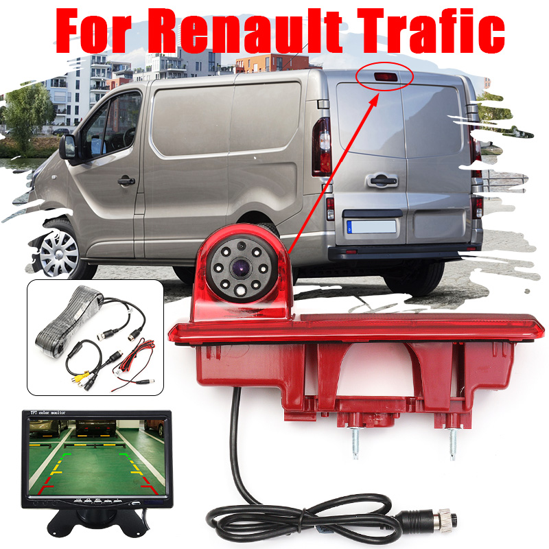 CCD HD Auto Car Rear View Camera Reverse Brake Light Parking Night Vision For Vauxhall Vivaro Renault Traffic Opel Vivaro
