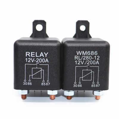 Car Truck Motor Automotive Relay 24V//12V 200A//100A Continuous Type  Car Relays