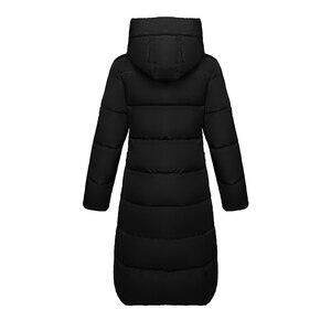 Image 5 - ドロップシッピングダウンジャケット2019ファッション女性の冬のスリム厚みのウォームジャケットダウン綿パッド入りのジャケット生き抜くパーカー