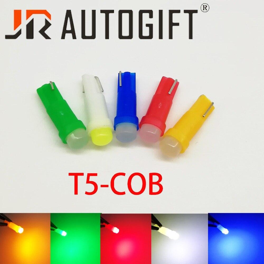 10 шт./лот T5 COB 12 В/24 В Автомобильная бесцокольная светодиодная лампа для приборной панели, лампа подсветки кнопок, лампа для индикации, лампа ...