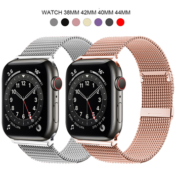 Milanese Loop Bracelet Stainless Steel band For Apple Watch series 1 2 3 42mm 38mm strap for iwatch 4 5 SE 6 40mm 44mm watchband for suunto core series watch milanese strap high quality stainless steel watchband 24mm adapter