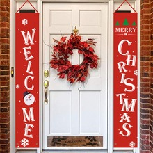 Merry Christmas Decorations Hanging Banner Sign For Indoor Outdoor Door Display Xmas