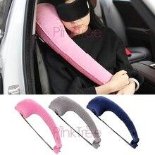 Soporte inflable para reposacabezas de coche, almohada para la cabeza, cuello, Surport Confort, accesorio para coche, color rosa, en forma de P