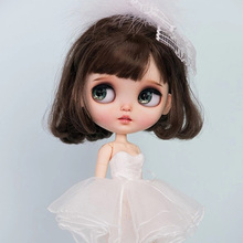1/6 blyth doll toy bjd joint body white with skin makeup doll with 19joint body makeup face handmade doll Fairy Series 7 toy gift free shipping 30cm doll 1 6 nude factory blyth doll 230bl1319 mint straight hair white skin joint body neo
