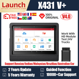 Launch X431 V+ Auto OBD2 Scanner Professional Automotive Scanner All System Car Diagnostic Tool Bluetooth Wifi Scan Tools