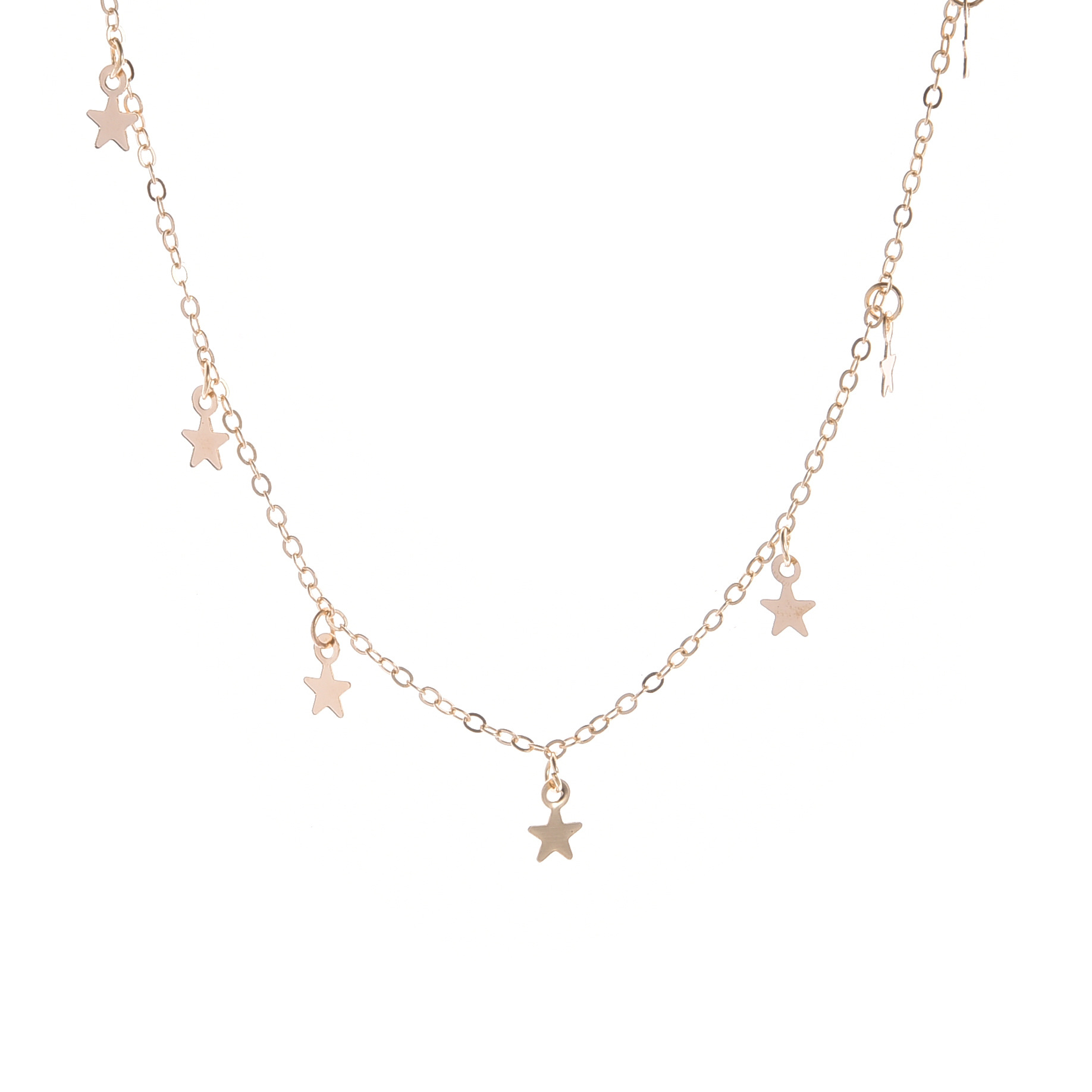 2020 Necklace Jewelry Suitable for Birthday, Party, Shopping, New Simple Fashion Necklace Five-pointed Star Pendant Star