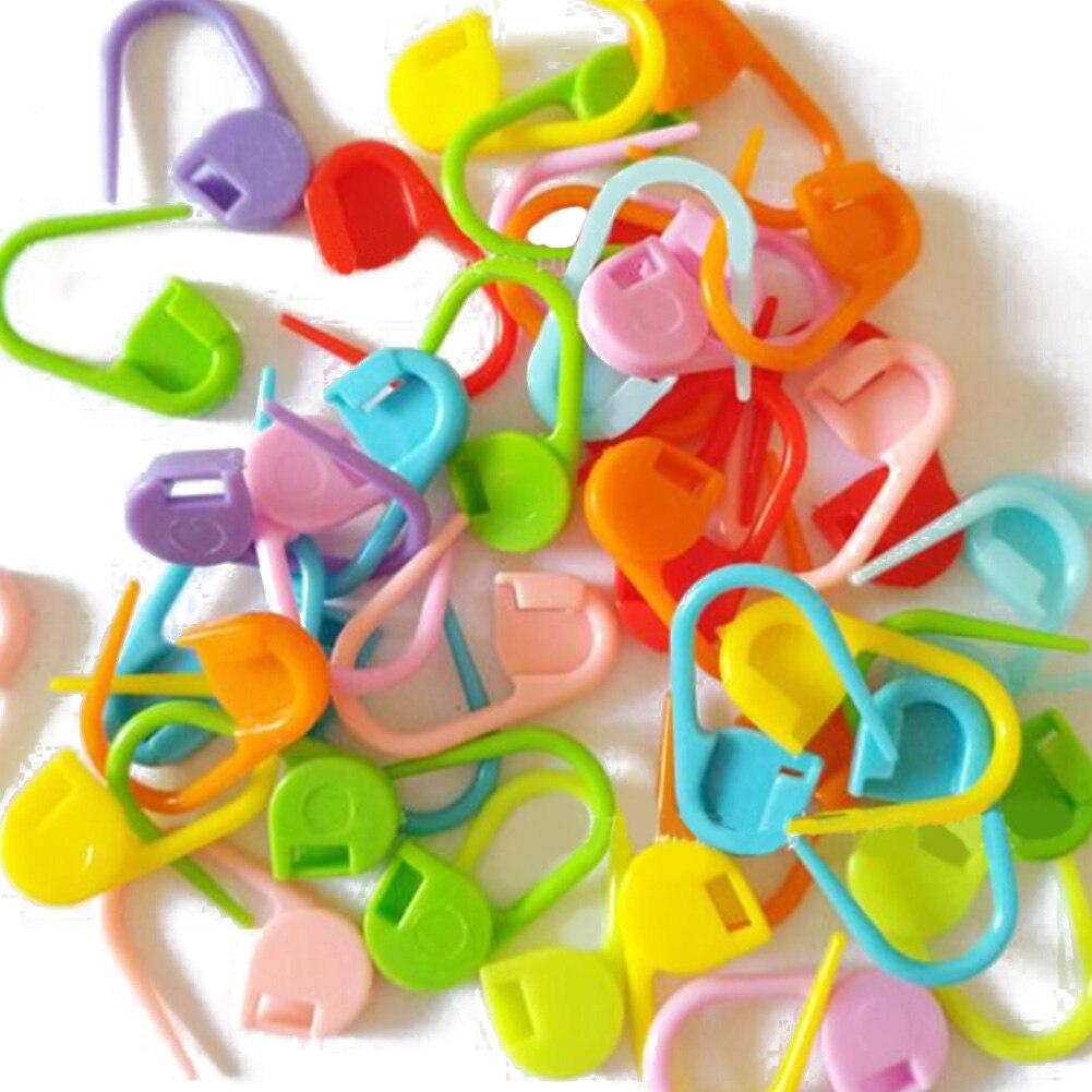10/50/100pcs Mix Color Plastic Knitting Tools Locking Stitch Markers Crochet Latch Knitting Tools Needle Clip Hook