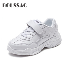 BOUSSAC New Pure Color Children Shoes Fashion Simple Flat Boys Girls Kids Casual Light Breathable School Running