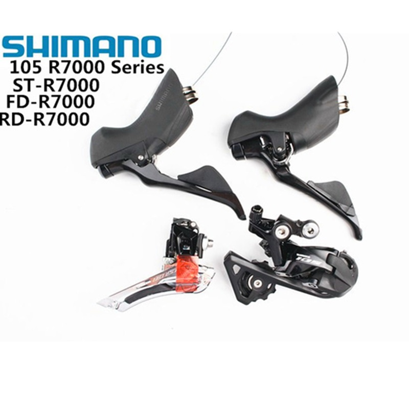 <font><b>SHIMANO</b></font> R7000 Groupset <font><b>105</b></font> R7000 Derailleurs ROAD Bicycle Front Derailleur + Rear Derailleur + Shifter update from 5800 image