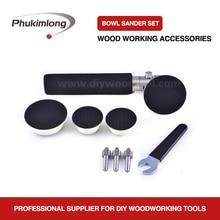 Phukimlong polimento tigela de madeira e eixo lixadeira pacote para torno de madeira polimento bonnet polidor buffer roda almofada disco