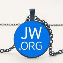 2019 NEW JW Org Necklace Chain Glass Necklace. Private Customized Pictures