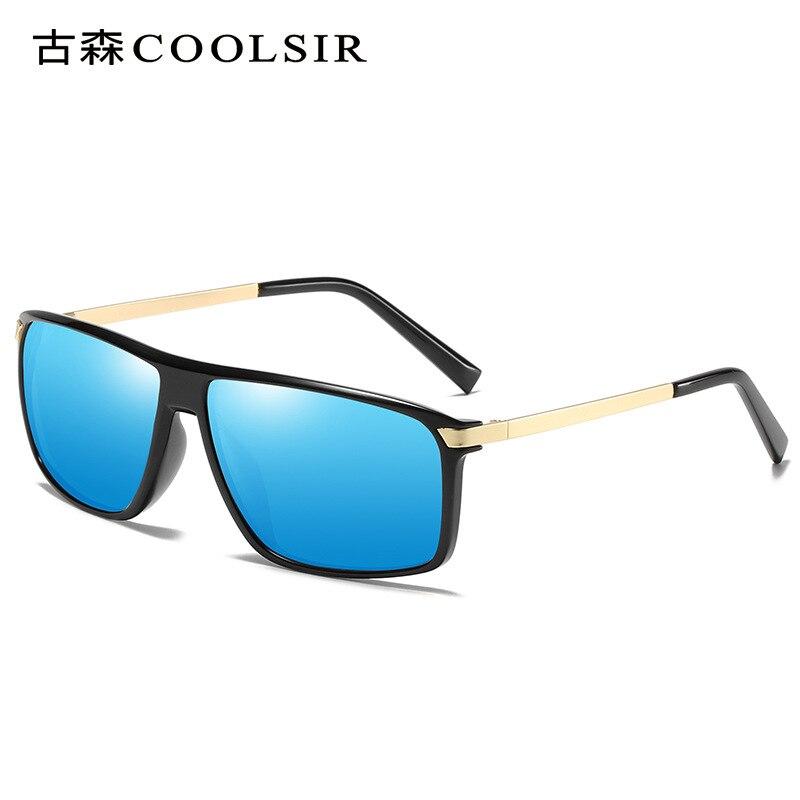 COOLSIR hommes nouveau lunettes de soleil polarisées classique rétro anti-éblouissement lunettes polarisées métal pieds UV conduite lunettes de soleil 6104