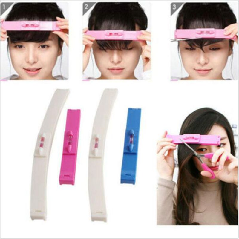 DIY1 Set New Women  Hair Trimmer Fringe Cut Tool Clipper Comb Guide For Cute Hair Bang Level Ruler Hair Accessories