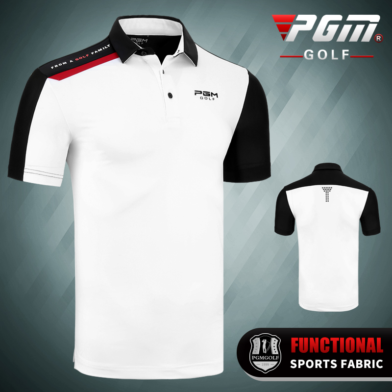 Golf T-shirt PGM Golf Clothing Men's Quick-drying Golf Shirts Summer Breathable Elastic Golf Short Sleeved Uniforms