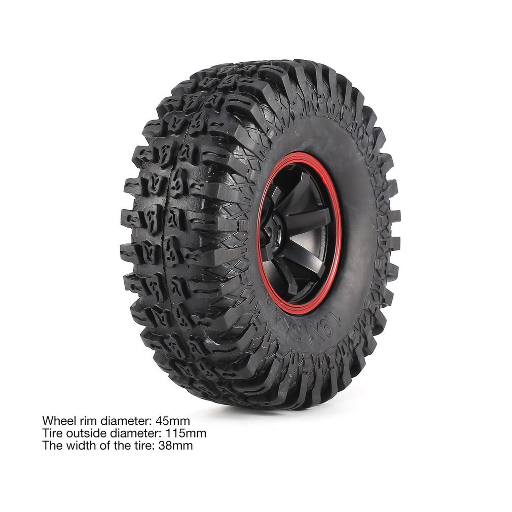 4Pcs 115mm Climbing Car Off road Wheel Rim and Tires for 1 10 Monster Truck Racing RC Car Accessories Component in Parts Accessories from Toys Hobbies