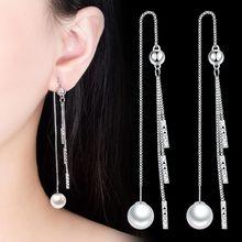 NEHZY – boucles d'oreilles en argent sterling 925 pour femmes, bijoux de haute qualité avec perles, longues franges, rétro, simples, nouvelle collection