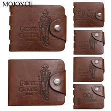 Excellent Quality Mens Genuine Leather Bifold Wallet Wear Resistance Card Holder Slim Portable Coin Credit Card Purse Brown