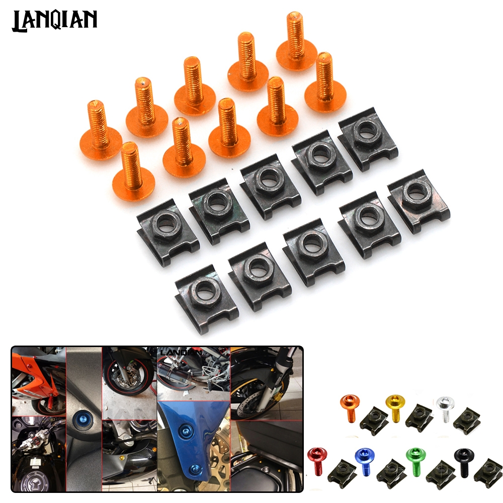 Universal Motorcycle Fairing Screws Fastener Bolts Clips Screw Nuts For Suzuki DL650 V-STROM <font><b>DR</b></font> 650 S SE SV650/S GSXR <font><b>1000</b></font> 600 image