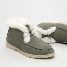 Women Shoes Ankle-Boots Smile-Circle Natural-Fur Winter Genuine-Leather Comfortable No