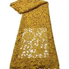 RG05 Lovely flower embroidered milk silk lace fabric,top quality African guipure cord lace for fashion dress!