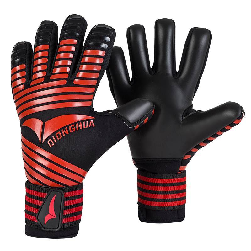 Профессиональные новые детские мужские перчатки вратаря толстые латексные перчатки для футбола без пальцев Защитные перчатки для вратаря ...
