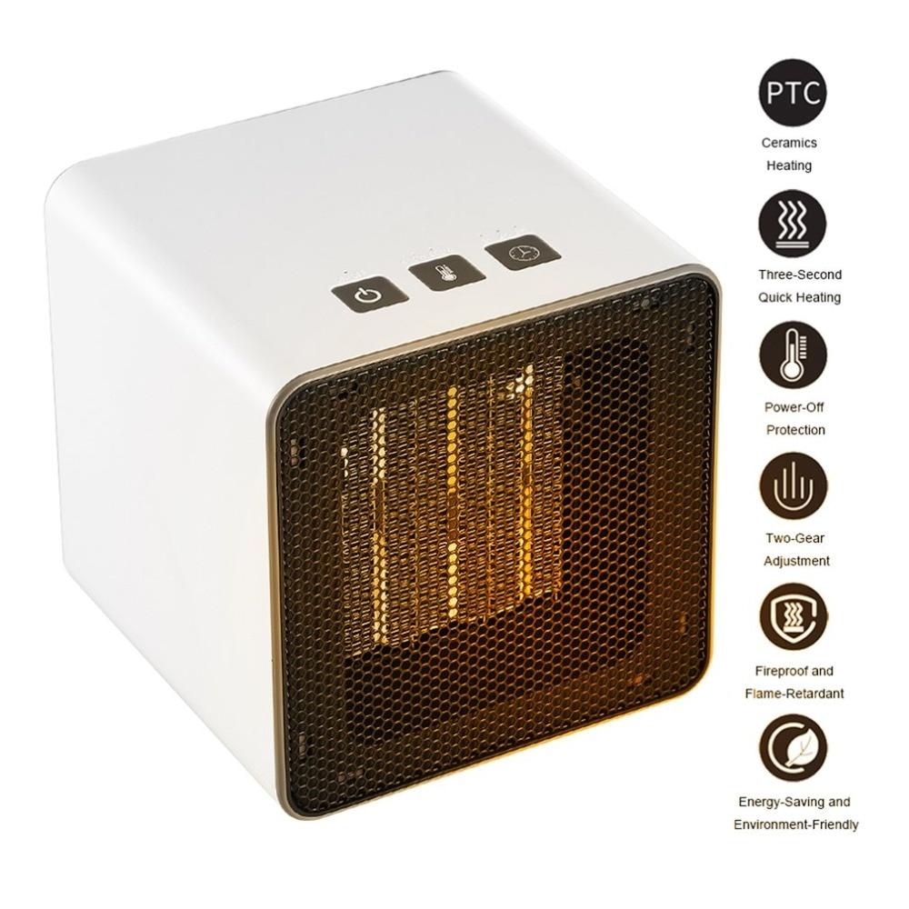 Mini Electric Heater Portable Desktop Winter Fan Air Heating Warmer Home Office