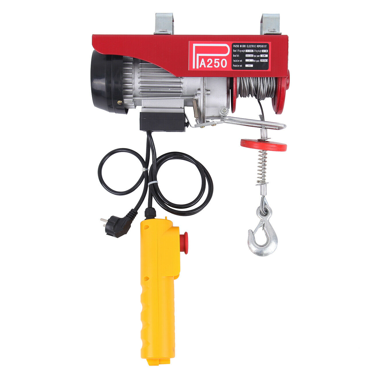 Honhill Electric Cable Winch Motor Rope Winch Stroke Cable Hoist Cable Winch Crane Winch For Boat Car Wound Load 200 600 1000KG