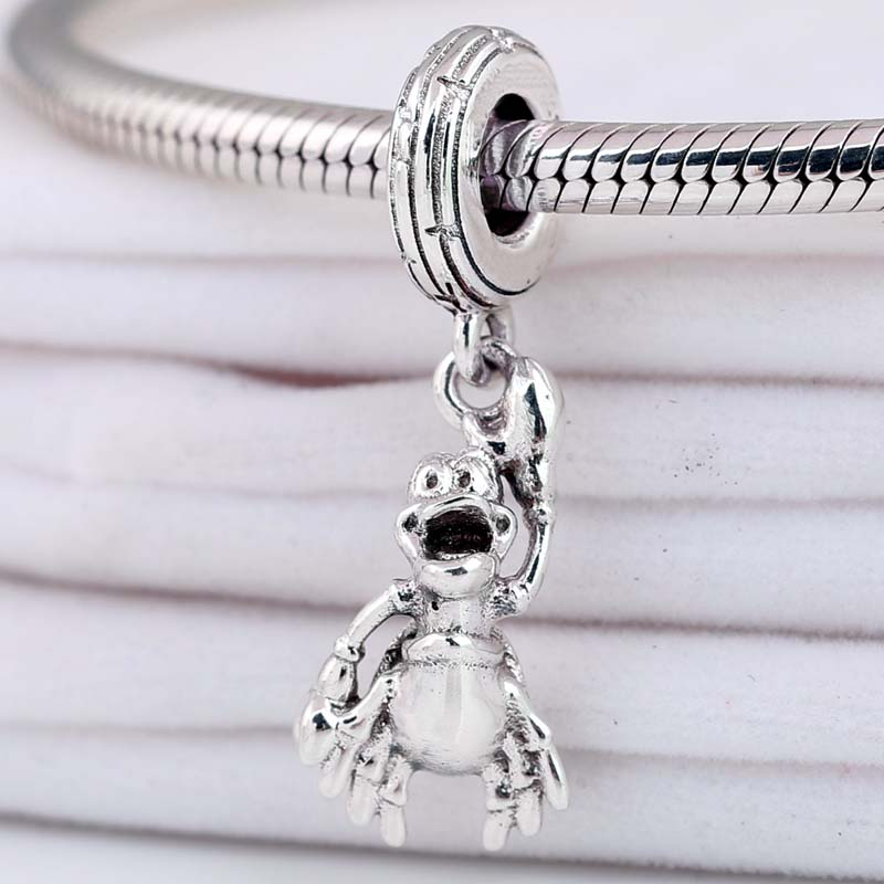 Original The Little Mermaid Sebastian With Music Notes Pendant Beads Fit 925 Sterling Silver Charm Pandora Bracelet Diy Jewelry(China)