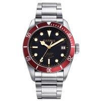 Parnis 41mm miyota relógio automático masculino de aço inoxidável luminosa marca luxo cristal safira relógio mecânico masculino