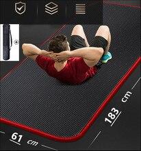 Сверхтолстый Коврик для йоги 183*61*1 см, Нескользящие коврики для йоги, коврики для фитнеса, без привкуса, для пилатеса, тренажерного зала, накл...