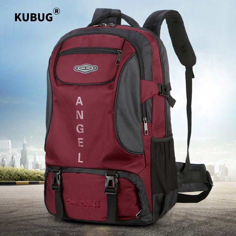 KUBUG New 65L Outdoor Backpack Camping Climbing Bag Waterproof Mountaineering Hiking Backpacks Molle Sport Bag Climbing Rucksack