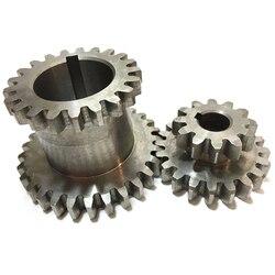AYHF-2Pcs/Set Cj0618 Teeth T29Xt21 T20Xt12 Dual Dears Metal Lathe Gear Duplicate Gear Double Gear