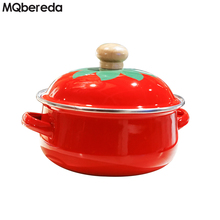 Special Offer Japanese 18cm 1.5L Enamel Tomato Soup Pot Containing Fresh Cover Gas Induction Cooker Can Be Used Free Shipping цены