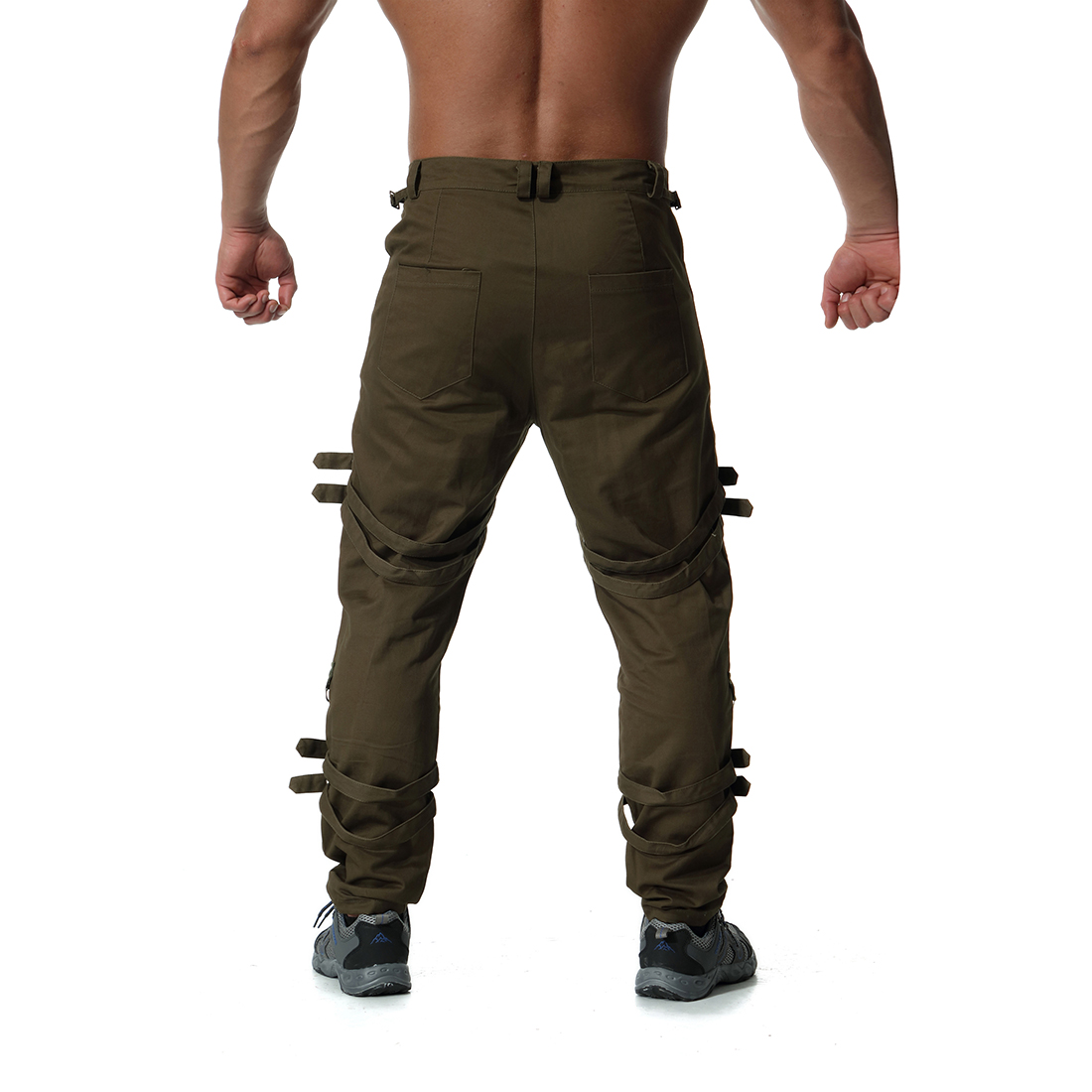 Pantalones para hombre, pantalones de chándal, pantalones de chándal, pantalones para hombre, hip hop, Camuflaje, pantalones tácticos de carga, Militar - 2
