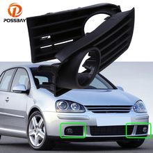POSSBAY araba ön tampon alt sis farları ızgaraları yarış izgaralar kapak VW Golf MK5 2004 2005 2006 2007 2008 2009 otomobil parçaları