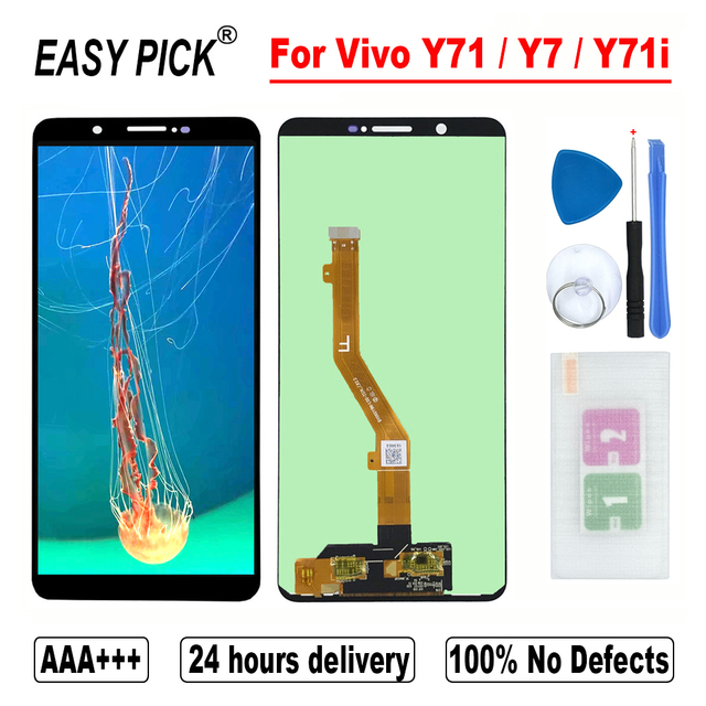 For Vivo Y71 / Y7 / Y71i BBK V1731B 1724 1801 LCD Display Touch Screen Digitizer Assembly With Frame
