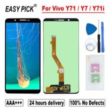 עבור Vivo Y71 / Y7 / Y71i BBK V1731B 1724 1801 LCD תצוגת מסך מגע Digitizer עצרת עם מסגרת