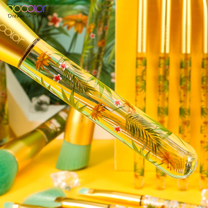 Image 4 - Docolor 14 pçs pincéis de maquiagem conjunto profissional pó fundação sombra compõem escovas cosméticos macio cabelo sintético
