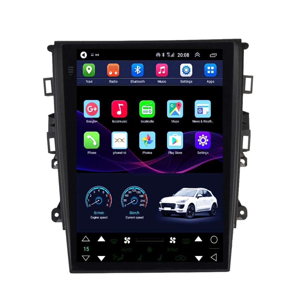 9.7 Tesla style Screen android 8.1 GPS car radio for Ford MONDEO car multimedia Video player 4g lte wireless Network 2013-2018