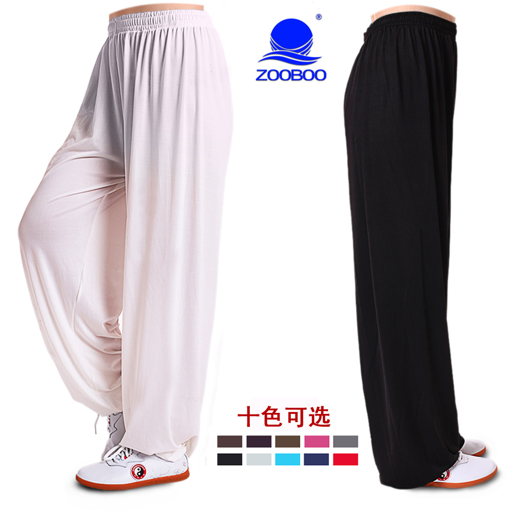 Zooboo Zooboo High-End Viscose Tai Chi Pants Tai Chi Clothing Martial Arts Practice Pants Morning Exercise Pants Drape Ultra-str