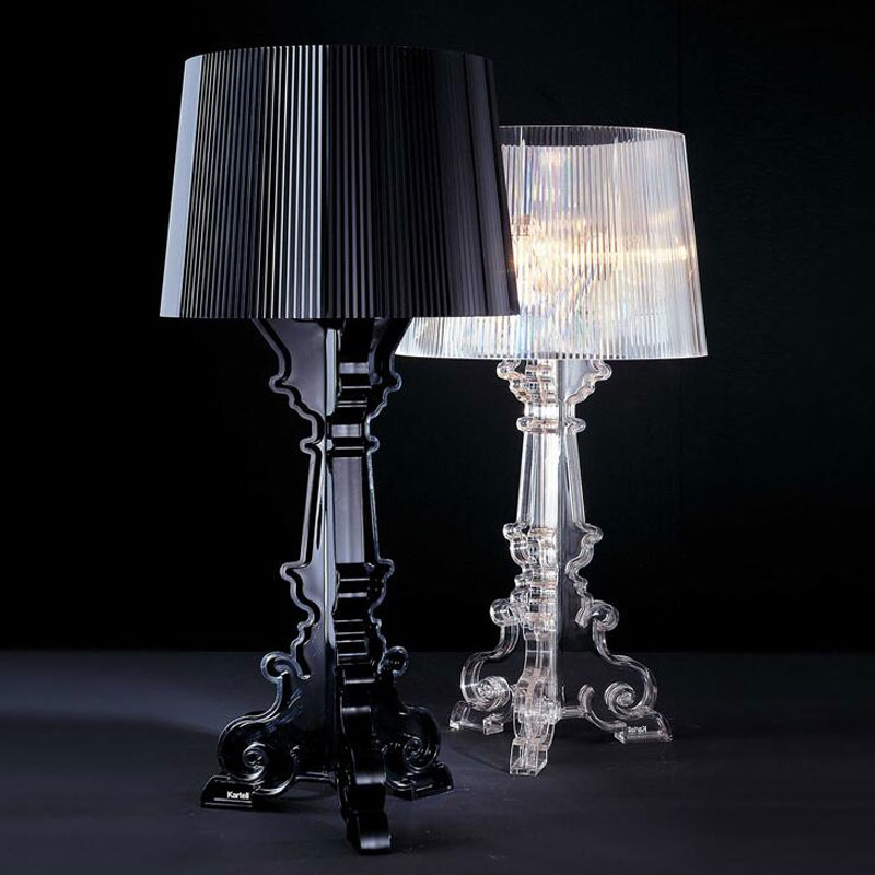Modern Bourgie Acrylic Table Lamps Italy Ghost Shadow Clear Desk Lamp Bedroom Living Room Bedside Lights Stand Light Fixtures