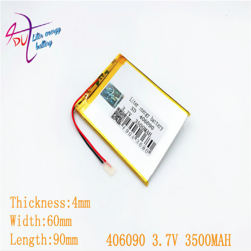 386090 <font><b>406090</b></font> 3.7v 3500mah Liter energy battery Lithium Polymer Battery With Board For Tablet V3000hd Mp4 Gps image