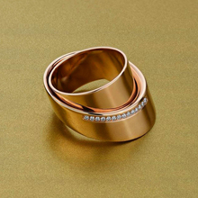 Cute Female Geometric Finger Ring Vintage Rose Gold Color Wedding Ring Promise Love Engagement Rings For Women unique style female crystal round leaf finger ring silver rose gold color wedding ring promise love engagement rings for women