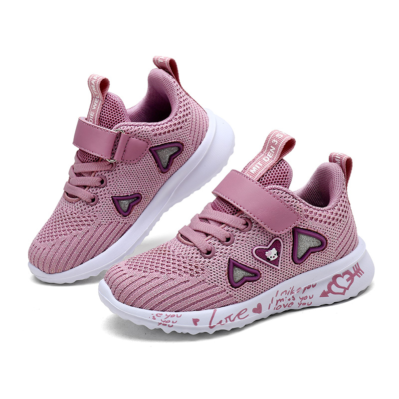 Girls Breathable Pink Sports Shoes 3