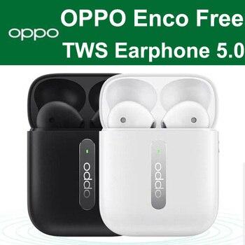 OPPO Enco Free TWS 5.0 original True Wirelss Stereousic Earphone Headset Hands-free Headphone For Huawei Honor Phone