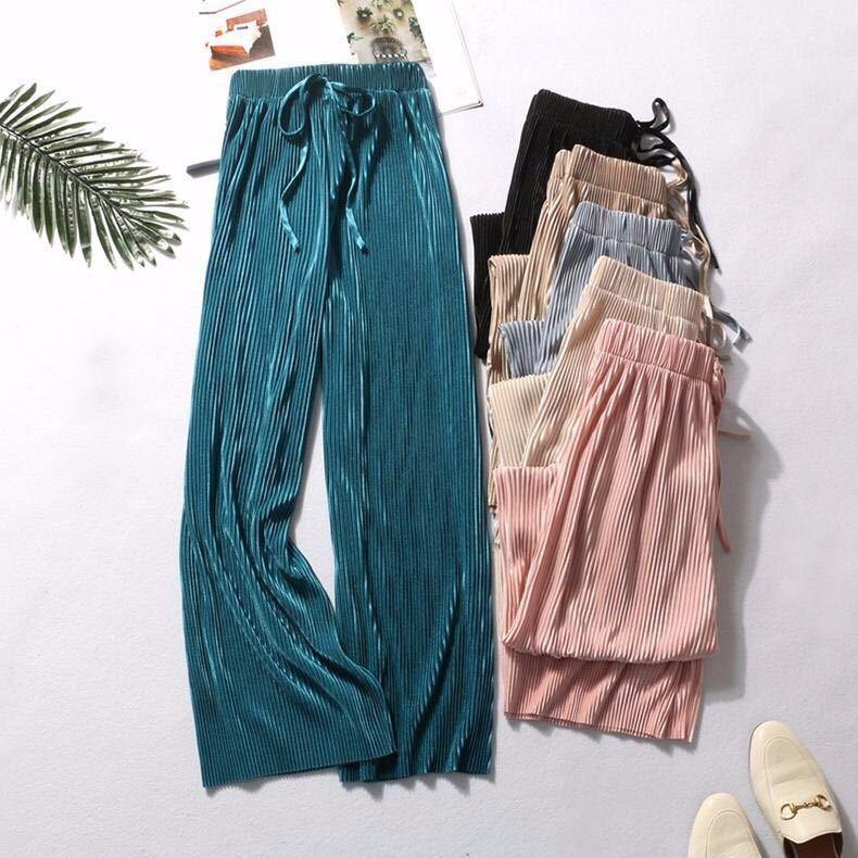 1-1 [Spike 1000-Piece] Viscose Fibre Wide-Leg Pants Summer Thin Ankle-length Pants Leggings